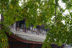Open windows of ancient building in spring,China Royalty Free Stock Images