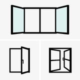 Open windows Stock Images
