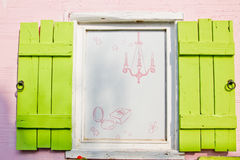 Open windows in Korea. An open and coloured window Royalty Free Stock Photo