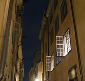 Open windows in Stockholm Stock Images