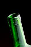 Open wine bottle neck Stock Images