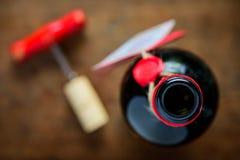 Open Wine Bottle Top Stock Photography
