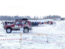 Open winter off-road racing. Nevyansk, Russia, 23 February 2018, Open winter off-road racing royalty free stock photos