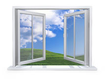 Open wit venster Royalty-vrije Stock Afbeelding