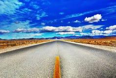 Open woestijnweg Royalty-vrije Stock Foto