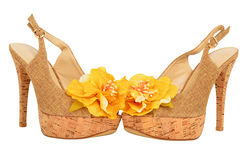 Open woman shoes Royalty Free Stock Images