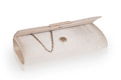 Open women clutch bag Royalty Free Stock Images