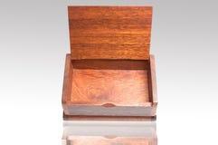 Open wood box empty Stock Photos