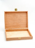 Open wood box empty Royalty Free Stock Photos