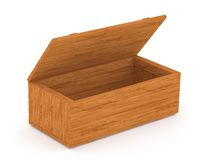 Open wooden box Stock Images