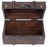 Open wooden box Royalty Free Stock Images