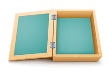 Open wooden box vector Royalty Free Stock Image