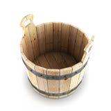 Open wooden bucket Stock Photos