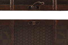 open wooden chest on white background Royalty Free Stock Image