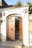 Open Wooden door of Baščaršijska mosque Stock Images