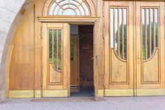 Open wooden door Royalty Free Stock Photo