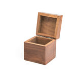 Open wooden gift box Royalty Free Stock Photography
