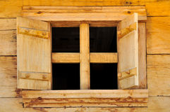Open wooden window Royalty Free Stock Photography