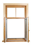 Open wooden window Stock Image