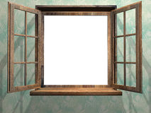 Open wooden window Royalty Free Stock Image