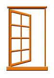 Open Wooden Window Illustration. Isolated on a White Background vector illustration
