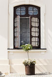 Open wooden window in the wall of the palace. Stock Image