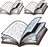 Open woordenboek vector illustratie