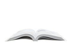 Open world. A book opened with the white background Stock Photography