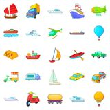 Open world icons set, cartoon style. Open world icons set. Cartoon set of 25 open world vector icons for web isolated on white background Royalty Free Stock Photography