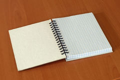 Open writing book. Stock Image