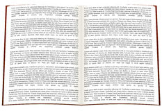 Open written book Stock Images