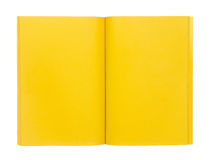 Open yellow book isolated on white Stock Photography