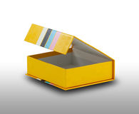 Open yellow box Stock Photography