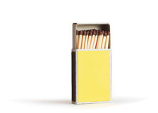 Open Yellow Matchbox Stock Photo