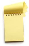 Open yellow notepad Royalty Free Stock Photo