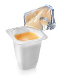 Open yogurt Royalty Free Stock Photo