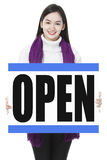 We Are Open Royalty Free Stock Image