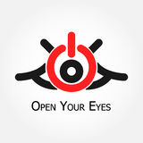 Open Your Eyes (turn on/off  symbol) Royalty Free Stock Images