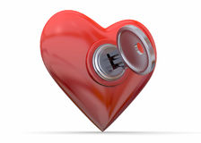 Open Your Heart - 3D Royalty Free Stock Image