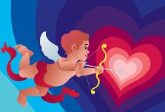 Open Your Heart To Cupid's Arrow Royalty Free Stock Photo