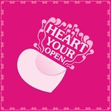 Open your heart Royalty Free Stock Photos