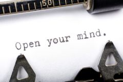 Open your mind stock image