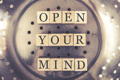 Open Your Mind message Royalty Free Stock Photos