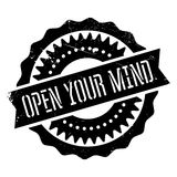 Open your mind stamp Royalty Free Stock Photos