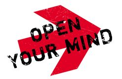 Open your mind stamp Royalty Free Stock Photography