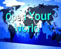 Open Your World Represents Do It Now And Inspire Stock Photos