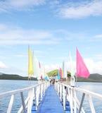 Open zee die in de Filippijnen snorkelen Stock Foto