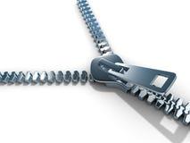 Open zipper Stock Photo