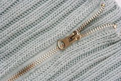 Open Zipper on Sweater Stock Image
