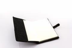 Open zwart boek Stock Afbeelding
